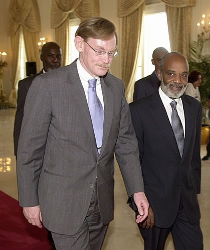 Rene Preval and Robert B. Zoellick
