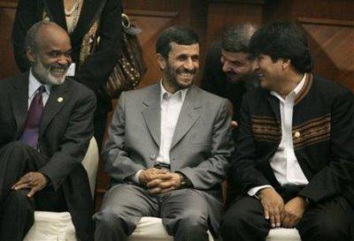 Rene Preval and Mahmoud Ahmadinejad