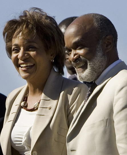 Governor General Michaelle Jean and President Rene Preval