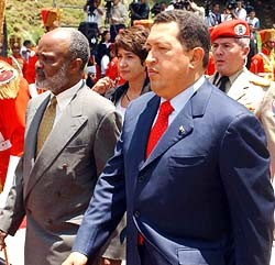 Rene Preval and Hugo Chavez